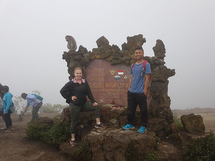 two people at Batur Volcano Indonesia