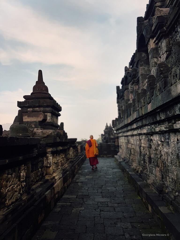 Borobudur Monk Circumambulating