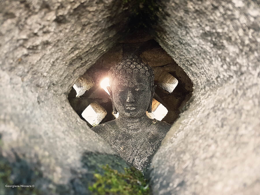 buddha statue at borobudur temple compounds