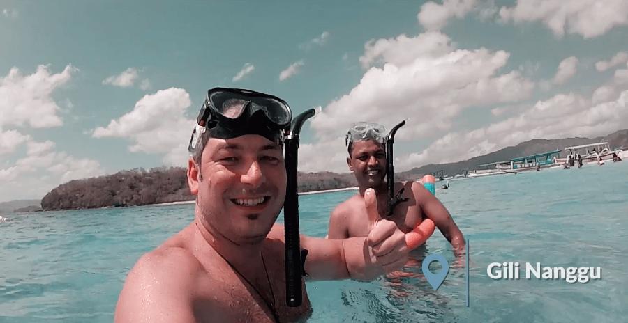 two men snorkeling