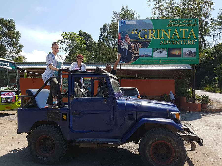 merapi volcano jeep indonesia two ladies