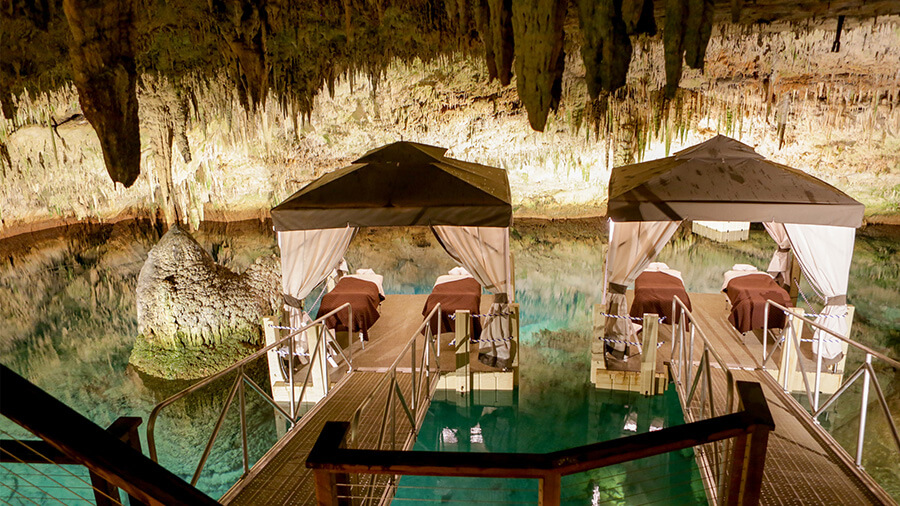 luxury spa cave bermuda grotto bay